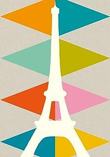 Alibabette Editions Paris Postcard 10 Pack Eiffel Triangles (ACP022)