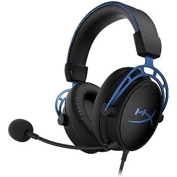 HyperX Cloud Alpha S - Audífonos para gaming, Sonido Surround 7.1, Altavoces HyperX de doble cámara, Equilibrio de audio entre juego y chat. Compatible con PC y PS4