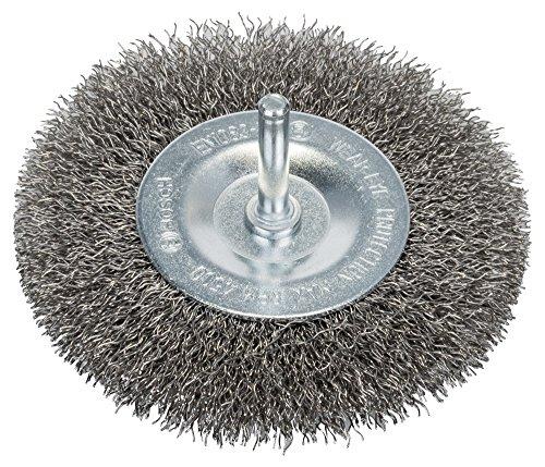 Bosch Professional Scheibenbürste, Edelstahl, gewellter Draht, 0,3 mm, 100 mm, 10 mm, 4500 U/ min, 2608622124