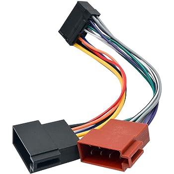 Amazon.com: MASO 16 Pin Car Stereo Radio Lead Loom ISO Wiring Harness  Connector Adaptor: Automotive