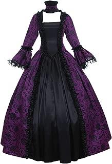 1791's lady Women's Victorian Rococo Dress Inspiration Maiden Costume NQ0032