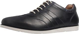 Manz - Zapatos de Cordones de Piel Lisa para Hombre Azul Azul