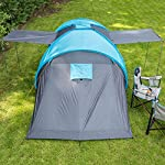 Skandika Hammerfest Family Dome Tent with 2 Sleeping Cabins, 200 cm Peak Height, Blue, 4-Person