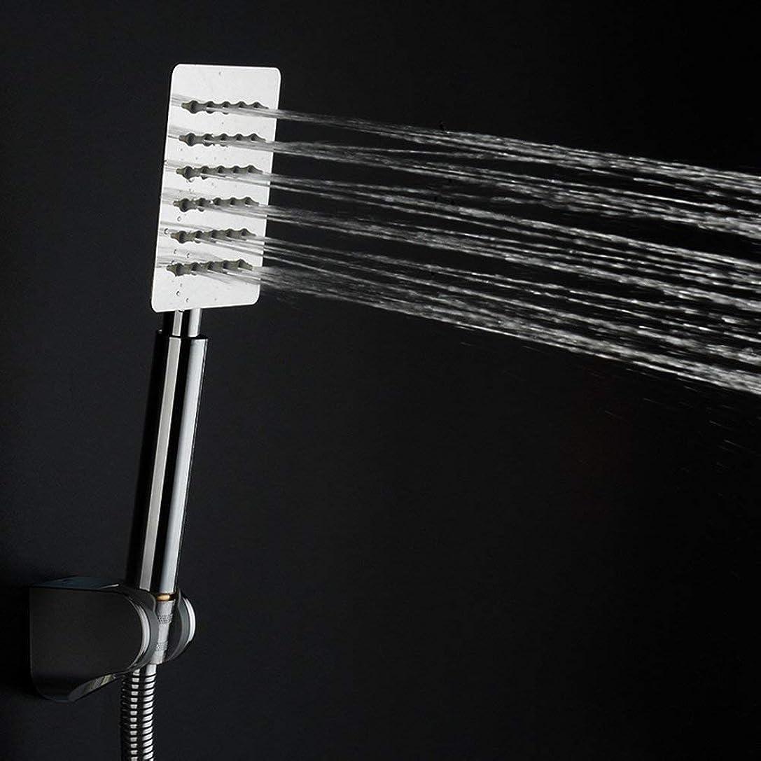 滅びる勇気はちみつ実用的なハンドシャワー ステンレス鋼の浴室手持ち型の花のシャワーのシャワーヘッド雨シャワーの浴室シャワーヘッドすべてを一度にしなさいヘッドスクエアラウンド (Color : 2)