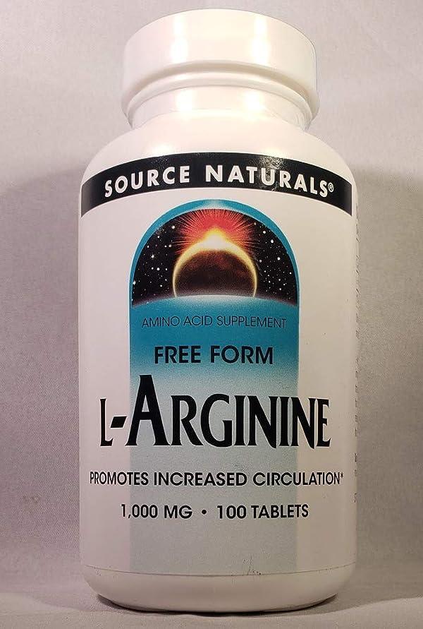 舗装保守的取り壊すSource Naturals - Lアルギニン自由形式の 1000 mg。100錠剤