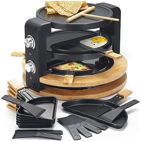 Kitchen chef - kcwood.8.super - Appareil … raclette 8/10 personnes 1500w + grill + crˆpiŠre