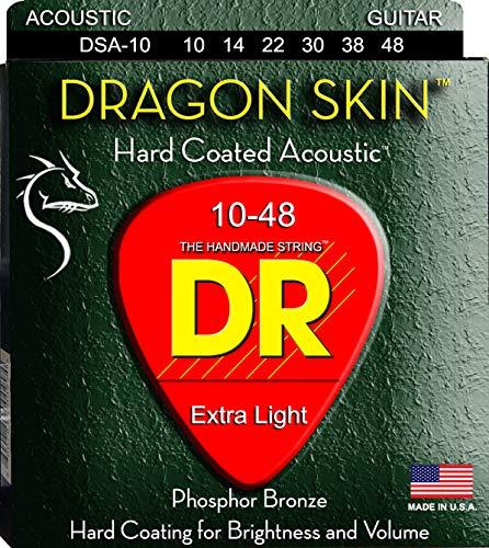 DR String DSA-10 Dragon Skin Juego Cuerdas Acústica