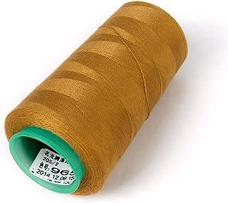 joyMerit 約3000ヤード ミシン糸 ジーンズ 革の縫製 シューズ糸 バッグ作成 クラフト ゴールド ネイビーブルー - 黄