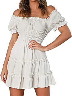 KANGMOON Women Summer Dress Womens Spring and Summer Fashion Casual Printed Zipper Sling Female Dress