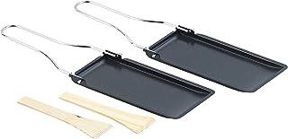 Set de 2 poêlons à fromage pour barbecue, avec manche pliable [Rosenstein & Söhne]