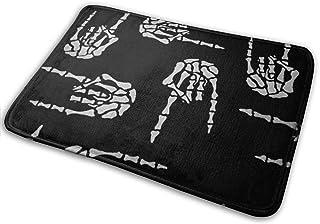 BLSYP Felpudo Heavy Metal Skull Rock Hand Non-Slip Welcome Mat Entrance Way Rug Easy to Clean Front Outdoor Doormat for Hi...