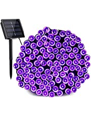 Outdoor Solar String Lights,BrizLabs 22M 200LED Christmas Solar String Lights Outdoor Waterproof 8 Modes Garden Decorative Lights for Tree Patio Fence Yard Wedding Party,Warm White