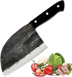 Promithi Couteau de chef de Serbe cuisine fait main utilisé pour désosser Boucher Couteau à Viande, Couperet Viande Bouche...