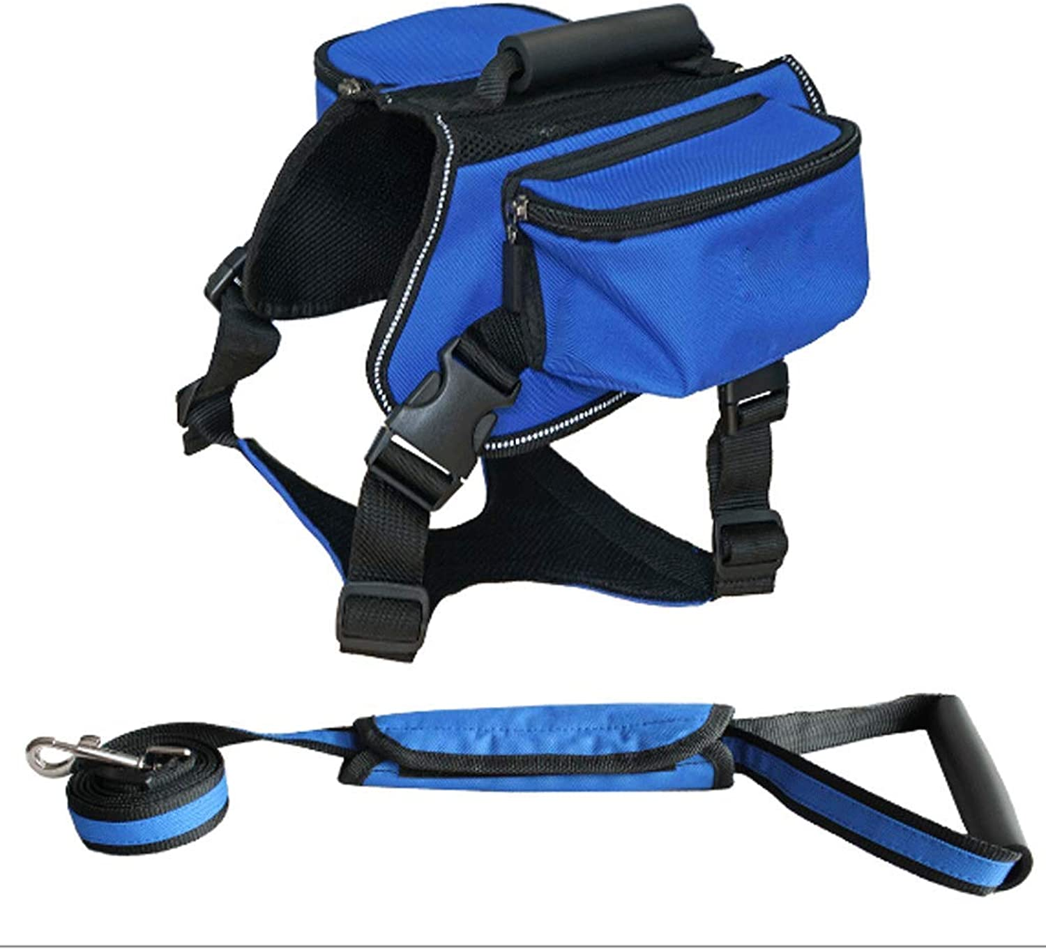 GJ Pet Out Travel Camouflage From Backpack Large Dog Outdoor Selfieng Bag Tow Backpack Plus Traction Rope (Colore: Blue, Size: L)