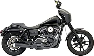 Bassani Xhaust 07-17 Harley FXDB3 Road Rage 2-Into-1 Exhaust (Black/Short Upswept with Forward/Mid Controls)