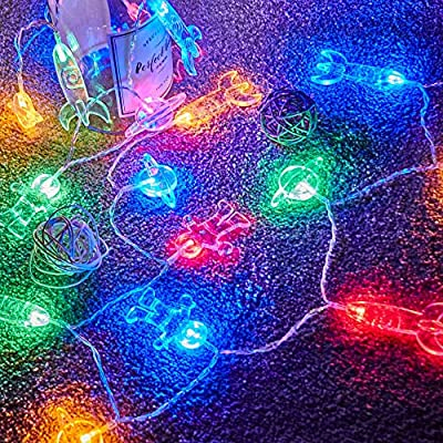 50 LED Children's Room LED String Light Astronaut Spaceship Rocket Pendants Holiday Party Lights Wall Window Nursery or Kids room Decor Wedding Around the Garden Party Patio Christmas (Multicolour)