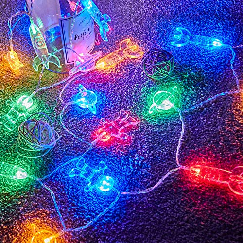 50 LED Children's Room LED String Light Astronaut Spaceship...