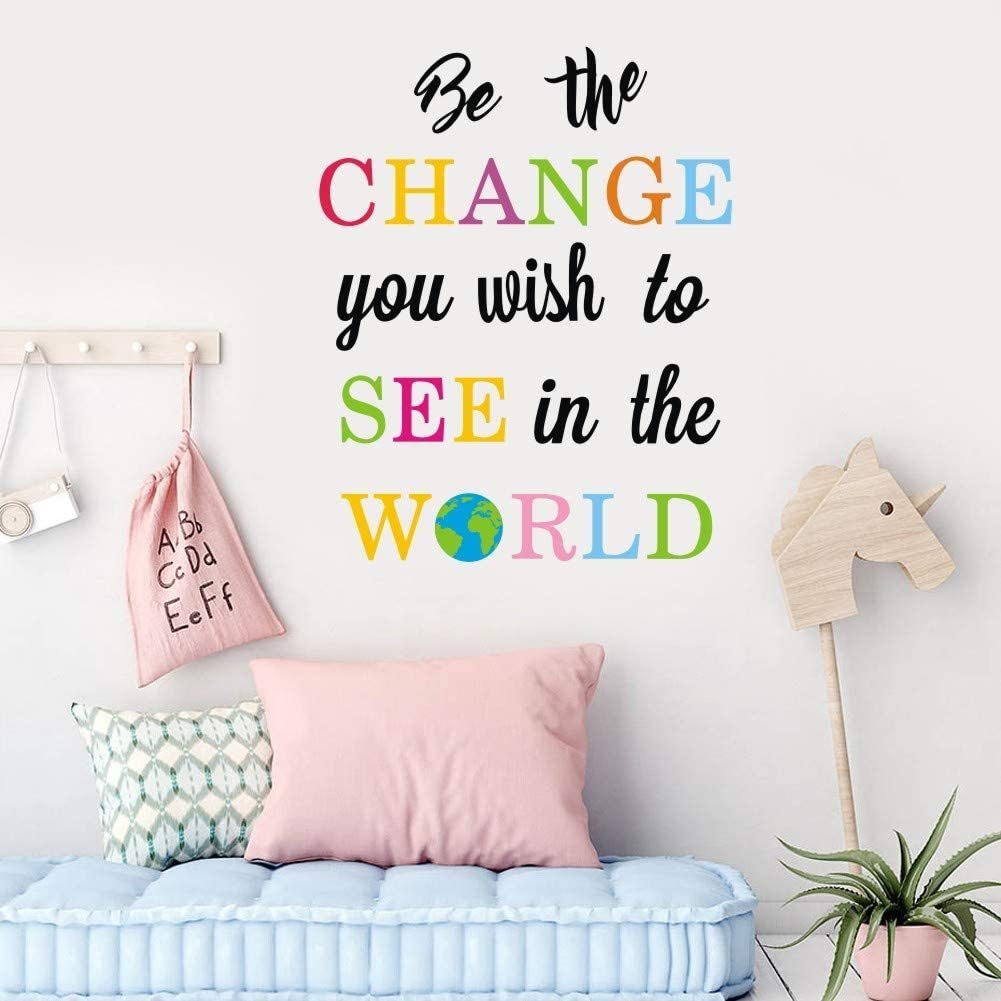 TOARTi Ranking TOP5 Be The Change You Wish to See I low-pricing World Decals in Wall