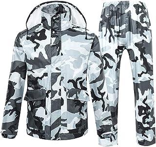 AP.DISHU Waterproof Sportswear Rainwear Raincoat Waterproof Riding Rain Gear Split Reflective Top + Waterproof Pants Men A...