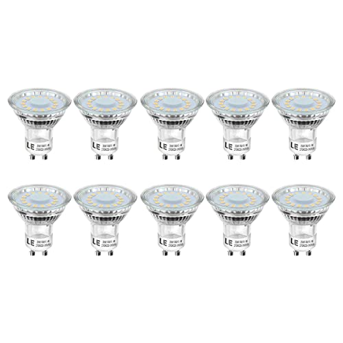 LE Bombillas LED, GU10 4W Equivalente 50W Halógena, Blanco Cálido 350lm 2700K, Pack