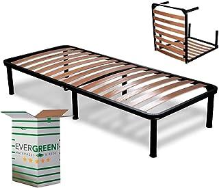 Evergreenweb ✅ Klappbarer Lattenrost 90×200 Einzelbett Höhe 35 cm Orthopädisches..