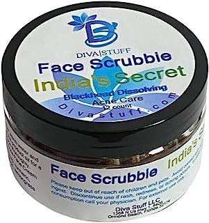 Diva Stuff Face Scrubbie India?s Secret | Dissolves Blackheads, Whiteheads & Acne | Face Exfoliator with Turmeric, Lemongr...