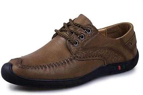 Chaussures habillées pour hommes Oxford chaussures en cuir confortable robe d'affaires anti-slip plat dentelle jusqu'à éviter les collisions bout rond chaussures végétaliennes Chaussures modernes form
