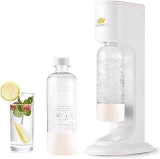 Machine à gazéifier Soda gazéificateur pour eau potable avec 2 bouteilles de 1 l sans BPA en PET (blanc)