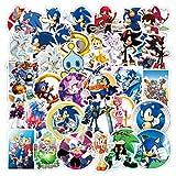 Pegatinas 15 piezas Japón Anime Sonic impermeable Pvc papelería pegatina monopatín maleta equipaje portátil guitarra...
