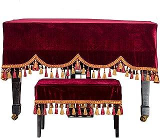 QTDH Piano De Media Cola Cubierta con Flecos Recorte De Heces Casos Clásica 360 ° De Protección Polvo De Los Muebles De Tela Cubierta del Teclado De Piano De Toallas