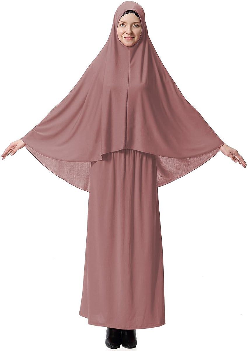 Muslim Islamic Women's Modest Long Style Hijab and Skirt 2Pcs Set