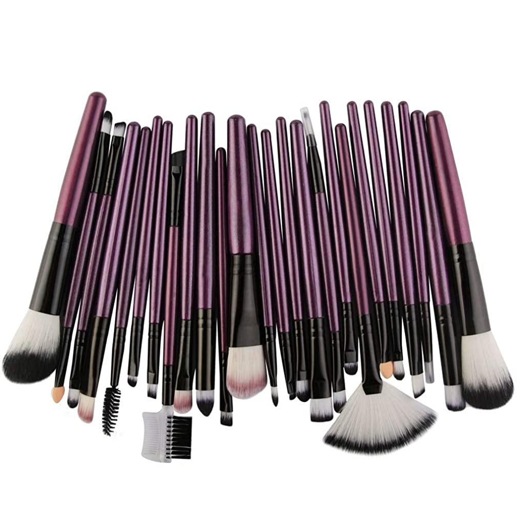 丁寧動機付けるマウントバンクBTXXYJP メイクブラシ 化粧ブラシ ブラシ メイクブラシセット 化粧筆 化粧ブラシセッ(25pcs) (Color : 4, Size : One Size)