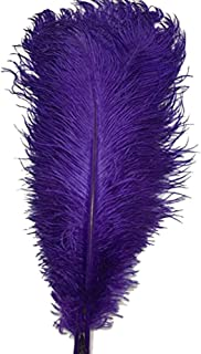 ADAMAI 10PCS Natural 11.8-13.7inch Ostrich Feathers Plume for Wedding Centerpieces Home Decoration (Purple)
