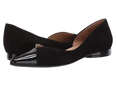 Naturalizer Hayden (Black Suede Patent/Leather) Women