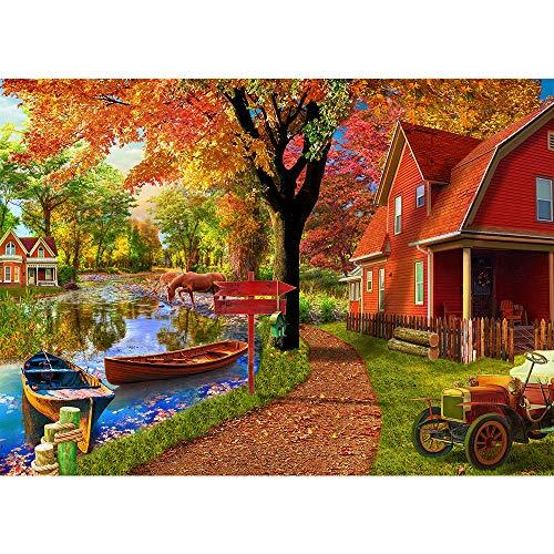 Jigsaw Puzzles for Adults 1000 Piece Puzzle for Adults 1000 Pieces Puzzle 1000 Pieces-Autumn Village