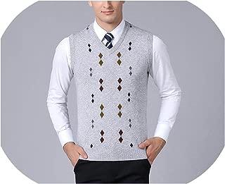 Solarphoenix New Sweaters Mens Pullover Jacquard Slim Fit Jumpers Knitting Vest Autumn