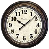 Westclox Classic Large Wall Clock, Brown