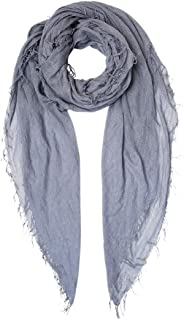 Chan Luu Dyed Cashmere and Silk Scarf with Lurex Thread (Cloud Grey)