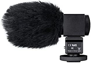 TAKSTAR Photography Interview Microphone Condenser Camera Recording MIC with 3.5mm Output for Nikon Canon DSLR Camera DV C...