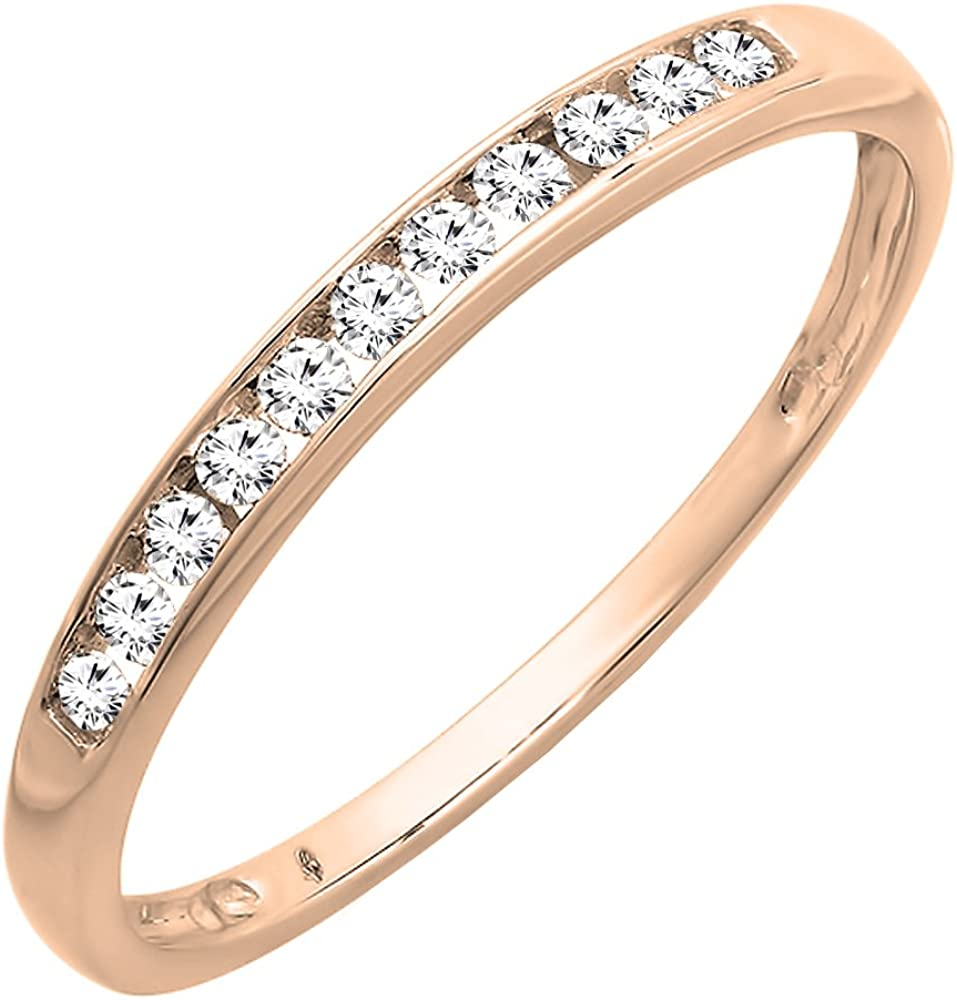 Dazzlingrock Collection 0.20 Special Campaign Carat ctw Diamond 10K Round Milwaukee Mall Gold