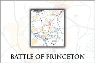 42x63 Poster; Battle Of Princeton Map, 2–3 January 1777 General George Washington