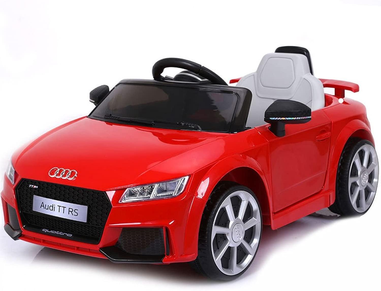 BAKAJI Auto Mac na Mac nina Elettrica per Bambini 6V MP3 modellolo Audi TT RS Cabrio Rossa con Luci Suoni e Telecouomodo Parental Control