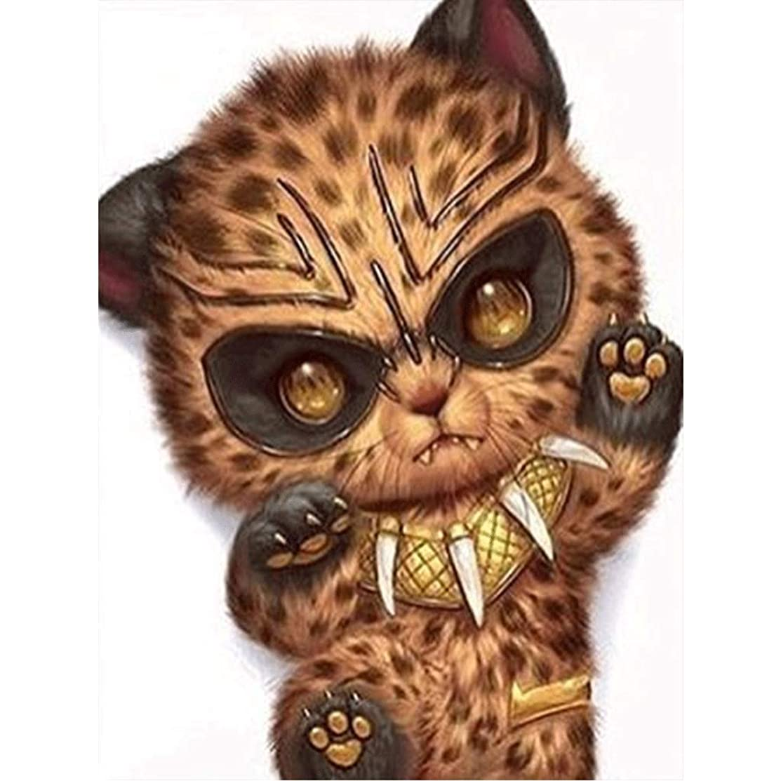 5d Diamond Painting kit,Diamond Painting Violent cat Rhinestone Embroidery Cross Stitch Kits Supply Arts Craft Canvas Wall Decor Stickers 12x16 inches