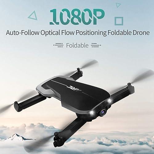 TianranRT  Spielzeugflugzeug Für Kinder Jjr C H71 Grus 1080P Wifi Fpv Optische Positionierung Des Flusses Folding Rc Drone Rtf, Fernbedienung Quadricopter - Black