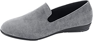 LATINDAY Women's Classic Flats Comfortable Upper Round Flat Slip-On Loafer Sneaker Shoes-Ideal for Casual Occasions