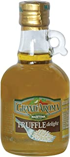 Mantova Grand Aroma Truffle Delight Extra Virgin Olive Oil, 8.5 Ounce - Finishing Oil with Black Truffle