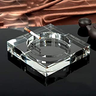 Ashtray, Ashtray European Ashtray Crystal Creative Fashion Personality Trend Multi-Function Large Office Living Room Coffee Table Ashtray (Size : B),Size:D,Colour:D (Color : E, Size : E)