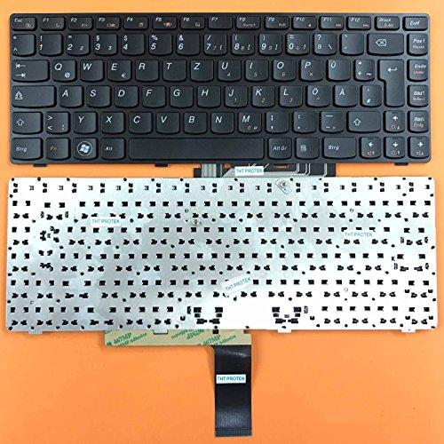 kompatibel für Lenovo IdeaPad Z370, Z470 Tastatur - Farbe: schwarz - mit Schwarz Rahmen - Deutsches Tastaturlayout