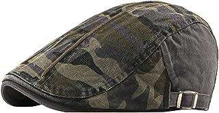 Camo Newsboy Cap Army Cotton Gatsby Flat Ivy Driving Hunting Golf Hat