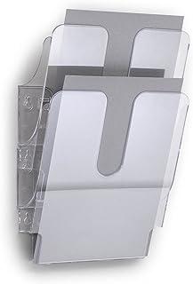 Durable 1709008400 Folderhouder FlexiPlus 2 A4, 1 set, transparant, met een lange levensduur.